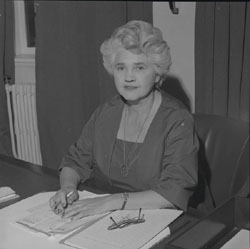 Jennie Lee image from the Parliamentary Archives
